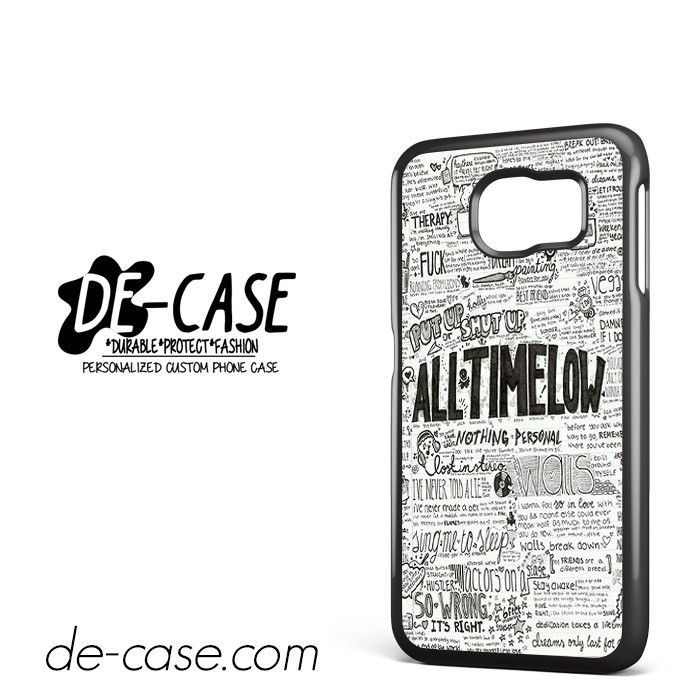 All Time Low Lyrics DEAL-627 Samsung Phonecase Cover For Samsung Galaxy S6 / S6 Edge / S6 Edge Plus