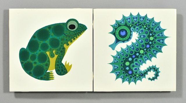 seahorse tile | Kenneth Townsend frog and seahorse tiles