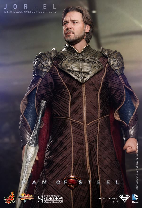 Jor-El collectible from Man of Steel...coming soon from Sideshow Collectibles. Incredible likeness! Thought I was looking at a photo for a minute. I need someone to buy this for me.