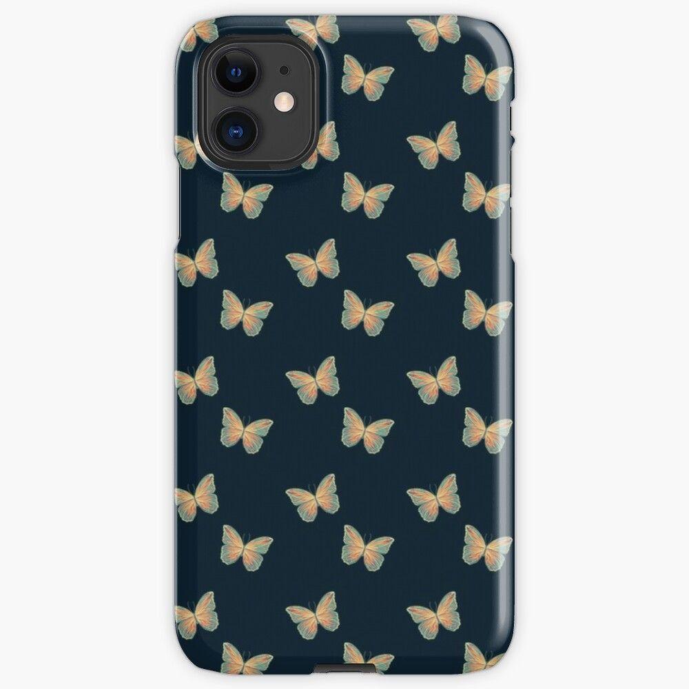 iphone xr case blue butterfly