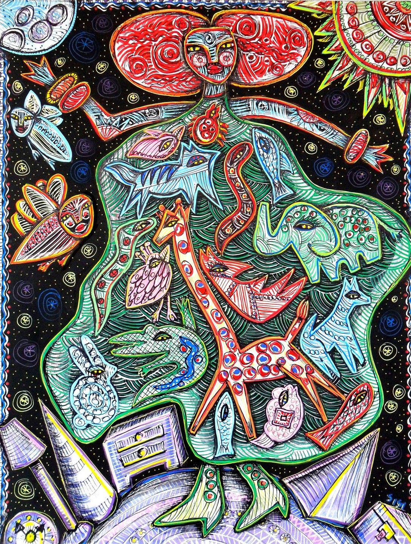 Spanish folk art spanish outsider artist julia sisi