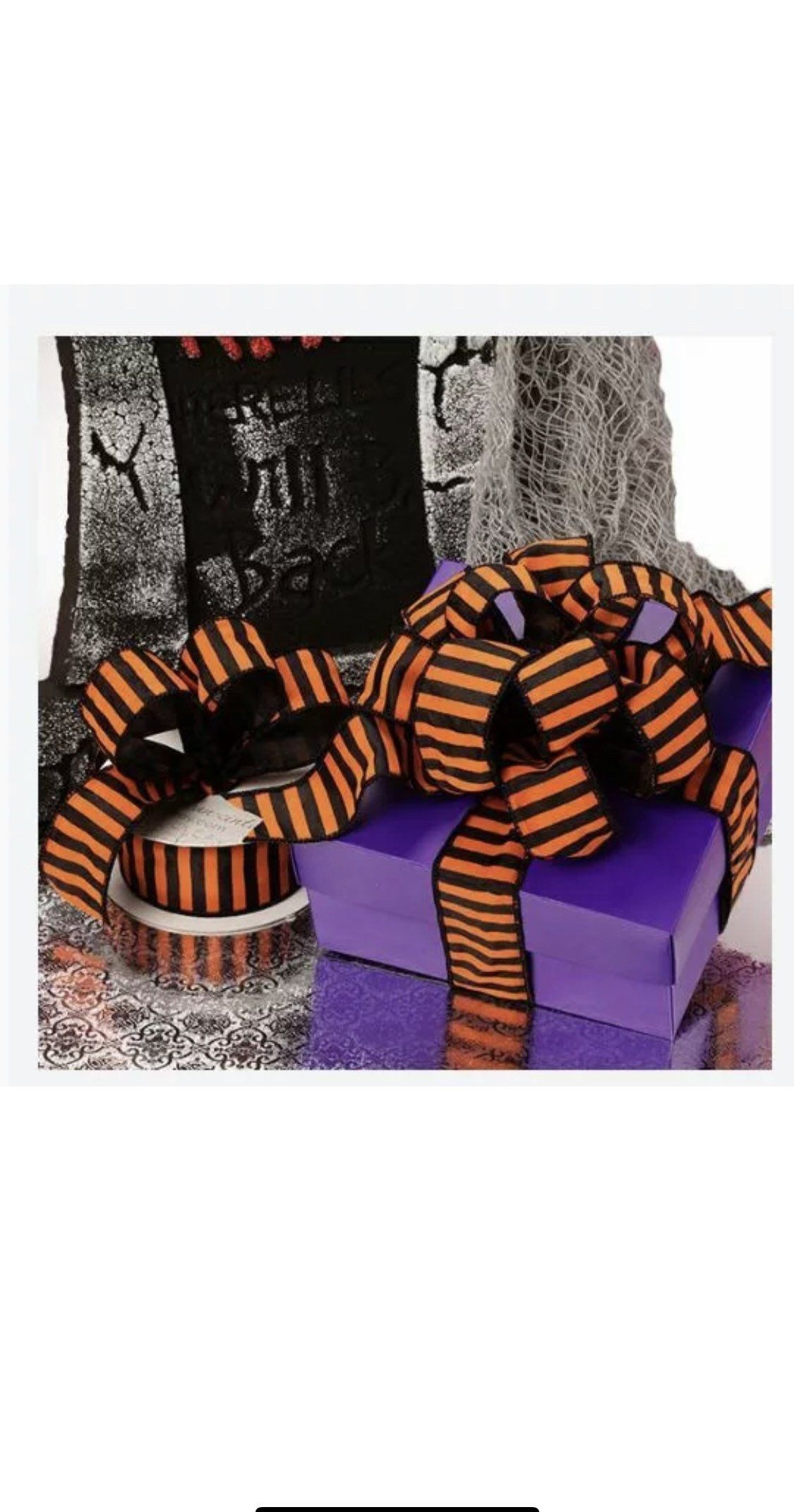 10pc purple halloween paper gift boxes with lids 8 x 8 x 4