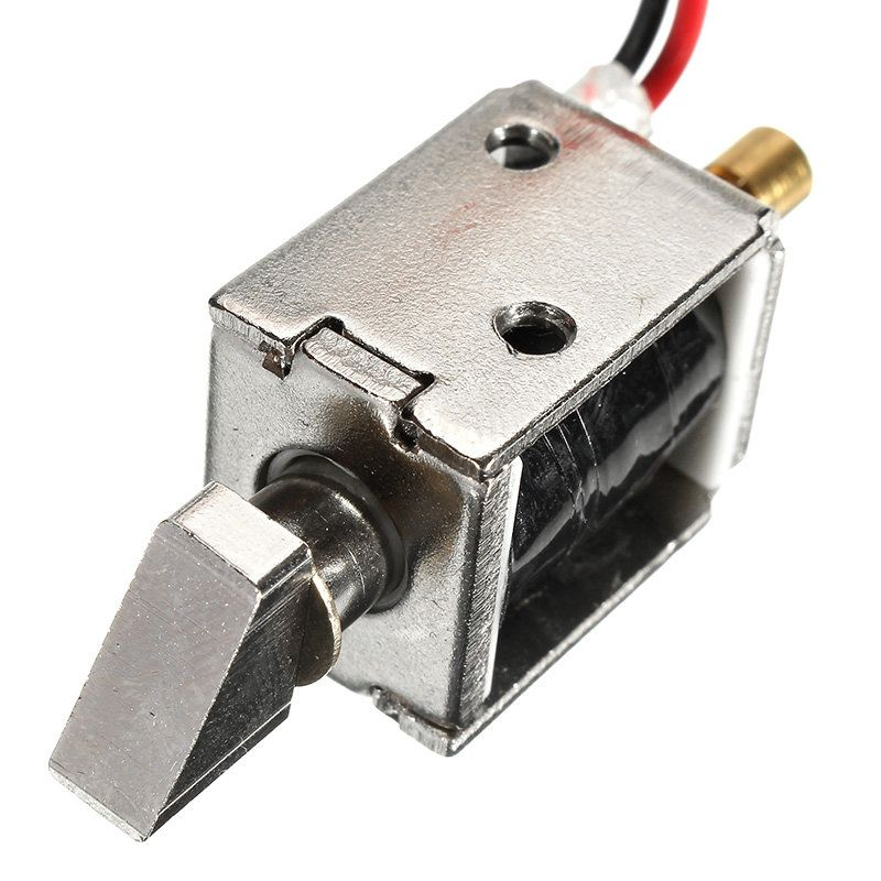 12v Dc 0 43a Mini Electric Bolt Lock Push Pull Solenoid Cabinet Lock 4mm Stroke Hardware Accessories From Furniture Home Improvement On Banggood Com Deco