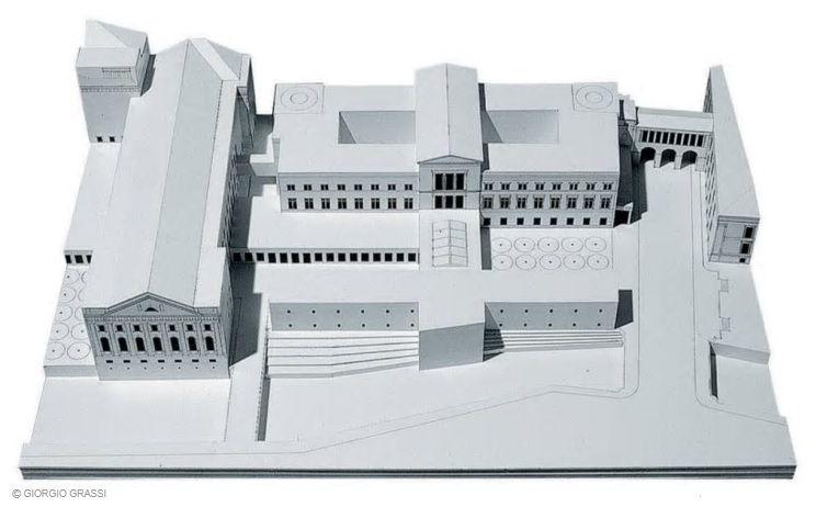 Neues Museum E Completamento Della Museumsinsel Berlin Germany 1995 Giorgio Grassi Architecture Model Architecture Drawing Architecture