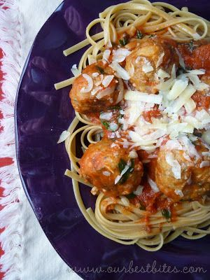 Linguine and turkey meatballs - excellent (mh feb 2015). Made meatballs the day before and just added to sauce to heat through before serving.