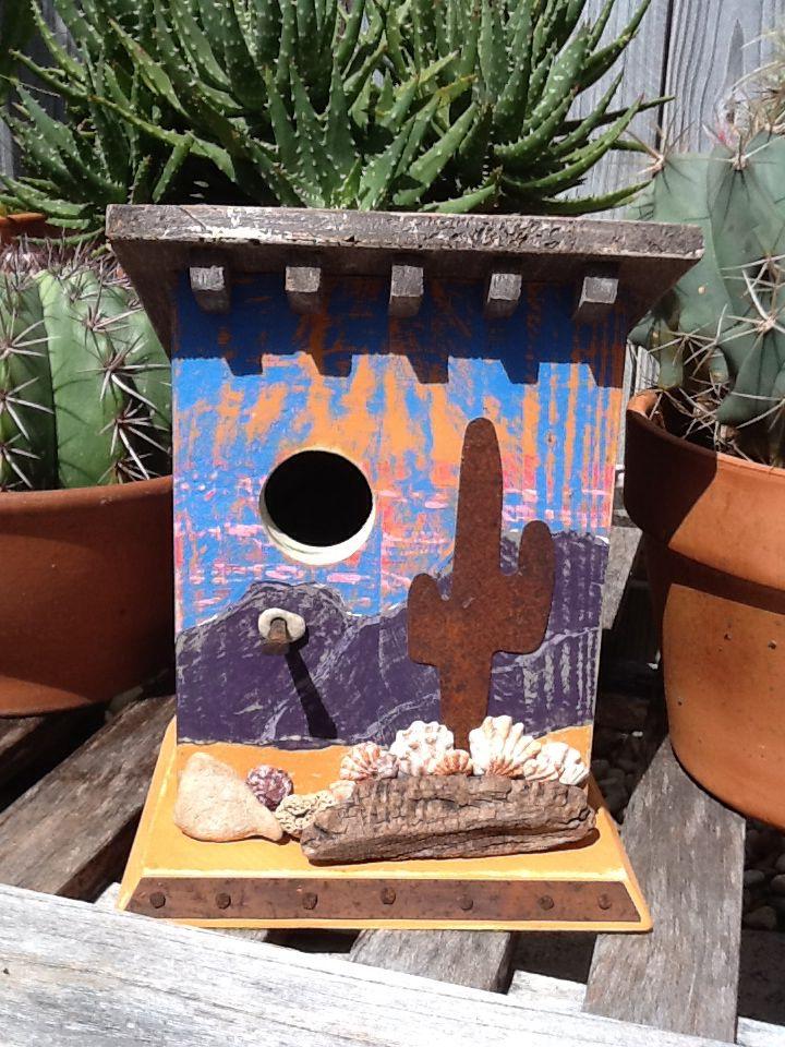Crazy birdhouse ladysouthwest birdhouse bird houses