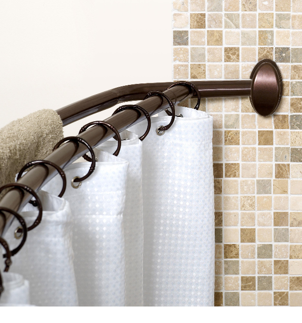 Curved Tension Shower Curtain Rod Best Ideas