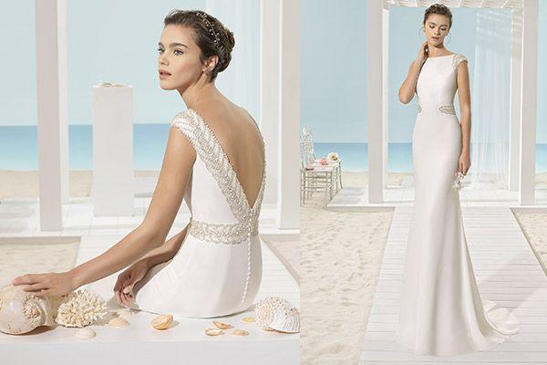 modelo xies aire beach wedding. #vestidodenovia #boda #weddinggown
