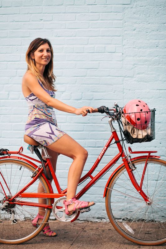 Raluca Rides A Biria 6 Speed Bicycle Photographed On Bedford Ave