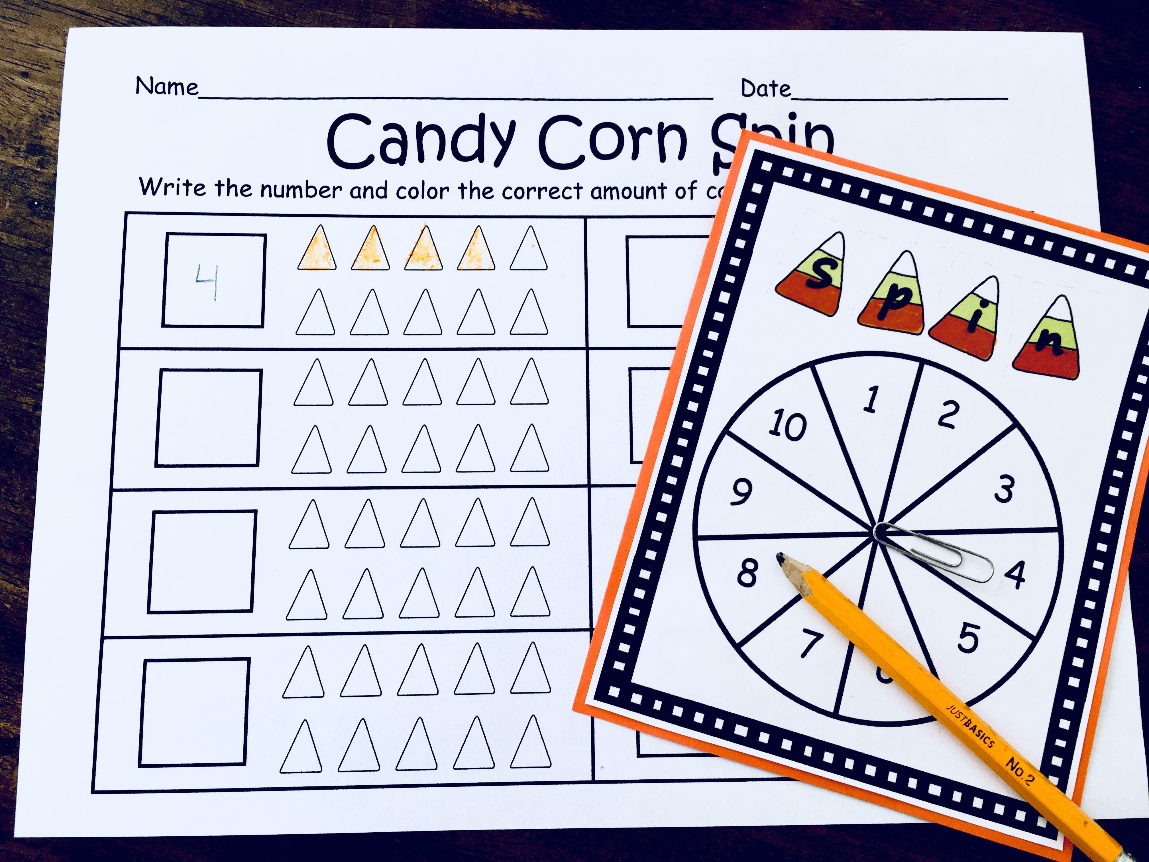 Kindergarten Candy Corn Math Centers