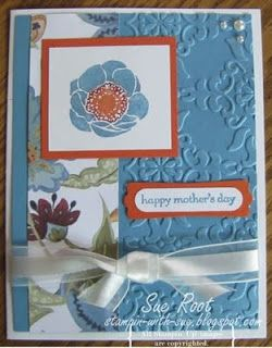 Stampin' With Sue: Paisley Prints and Four Frame.s Happy Mother's Day!