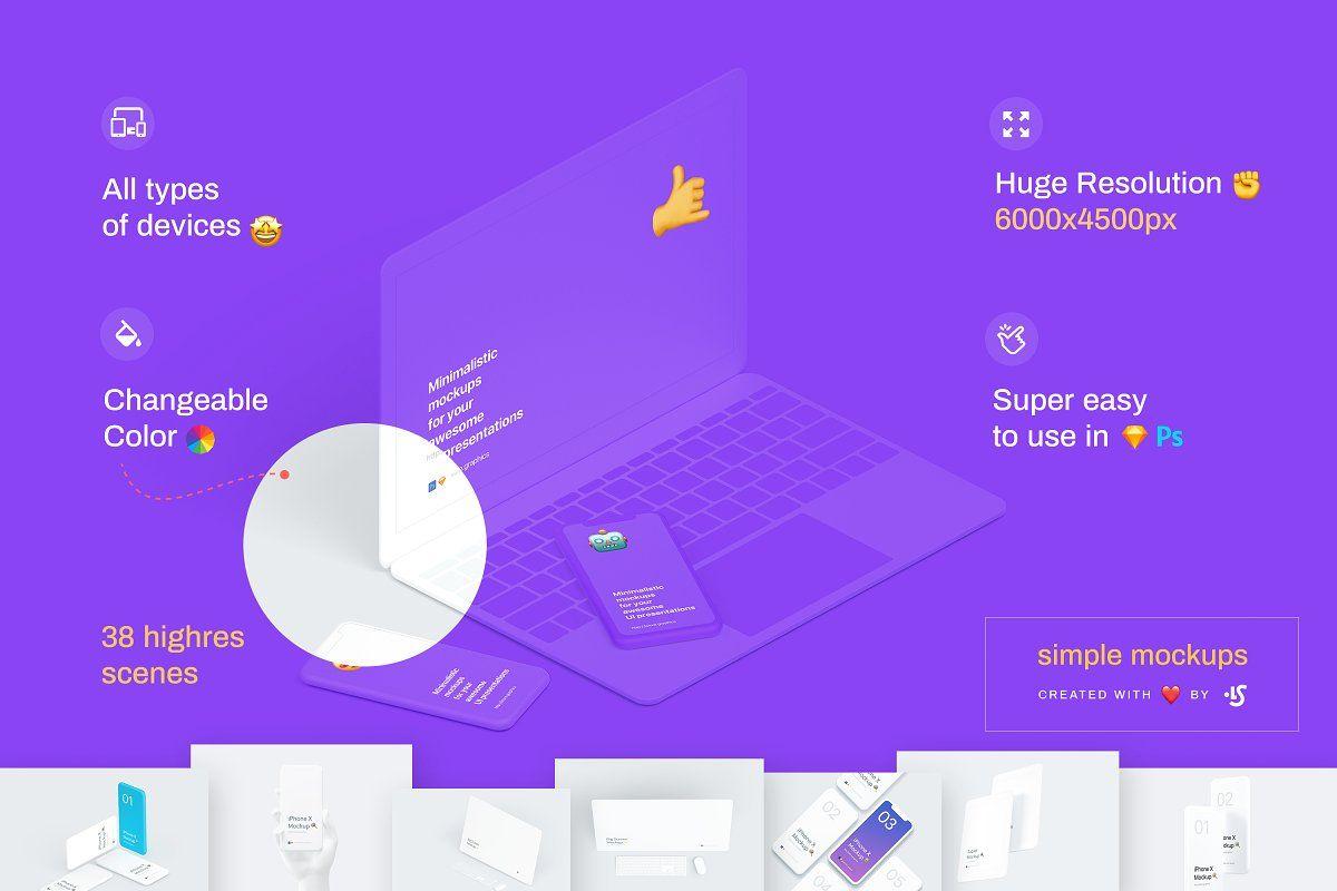 Simple Mockups Bundle Phone Mockup Mockup Templates Web Project