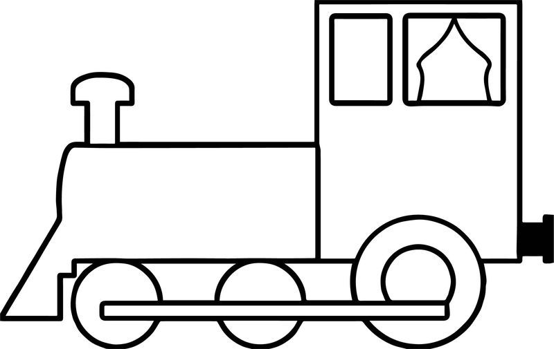 Simple Train Coloring Page