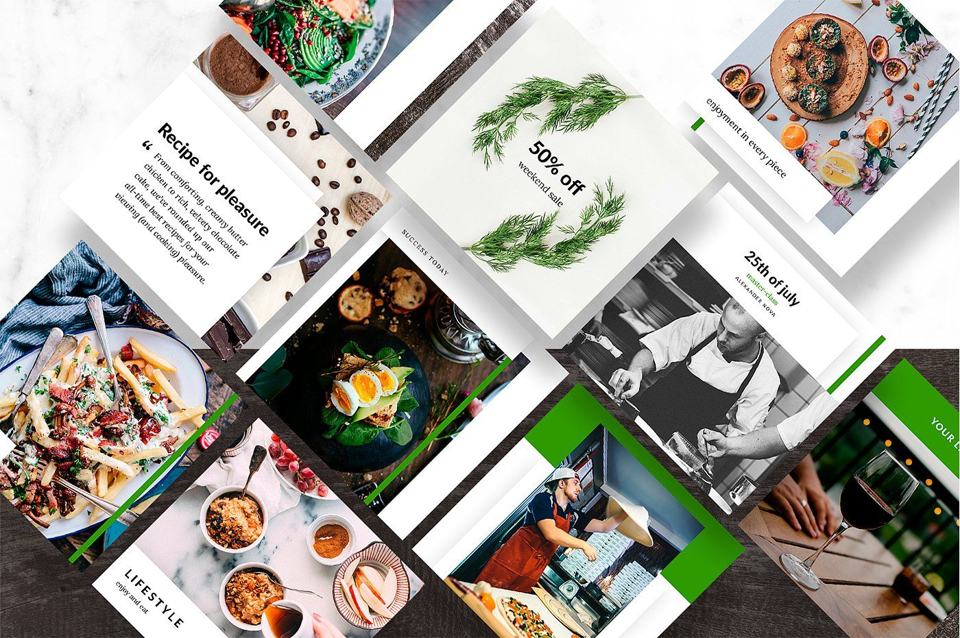 Food Social Media Template Delicious Instagram Template