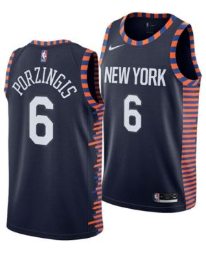 new concept f26f1 c7a95 Nike Kristaps Porzingis New York Knicks City Edition ...