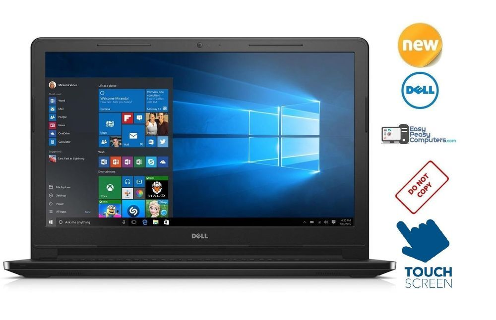"NEW DELL Laptop Touch Screen 15.6"" Windows 10 Webcam 500GB 4Gb (FULLY LOADED) #Dell"