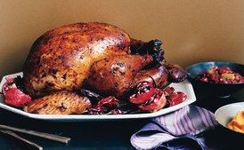 Adobo Roasted Turkey with Red-Chile Gravy