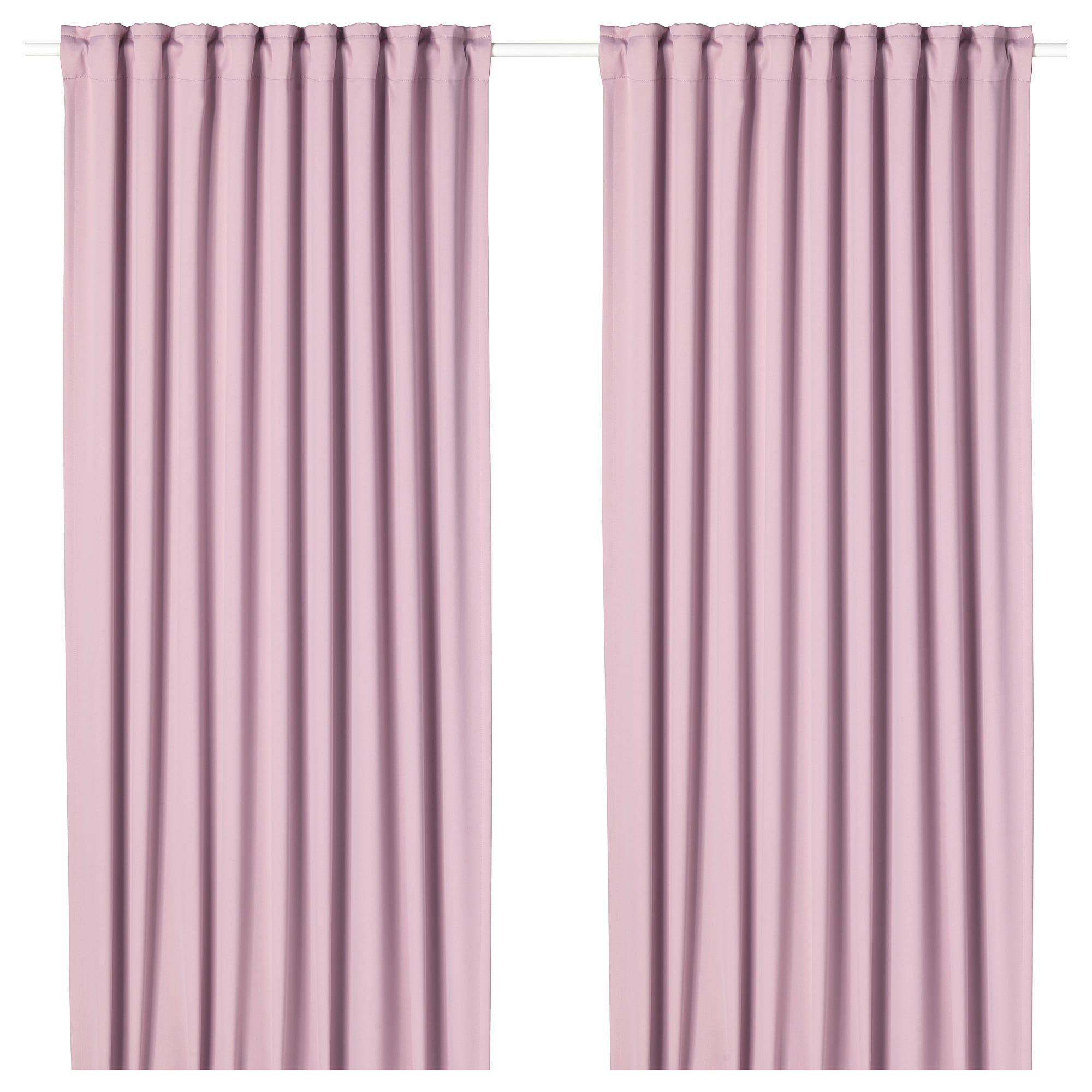 Ikea Majgull Light Pink Room Darkening Curtains 1 Pair Room