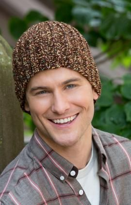 Man s Watch Hat Free Knitting Pattern from Red Heart Yarns  22c58b2f729