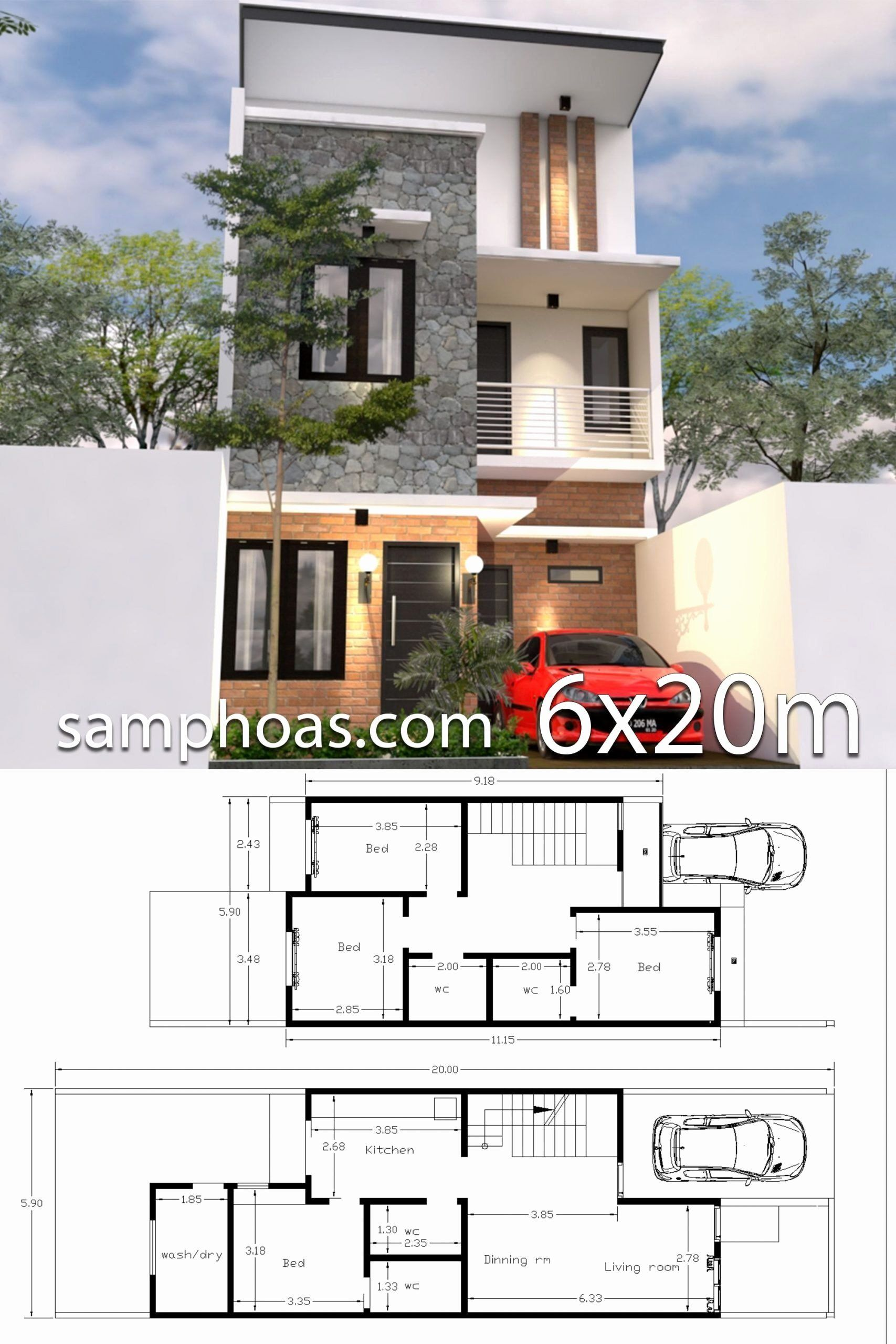 Best 3d Home Design Lovely Modern House Plans Designs 3d Sketchup Home Design 3d 6x20m 3d House Plans Model House Plan Architectural House Plans