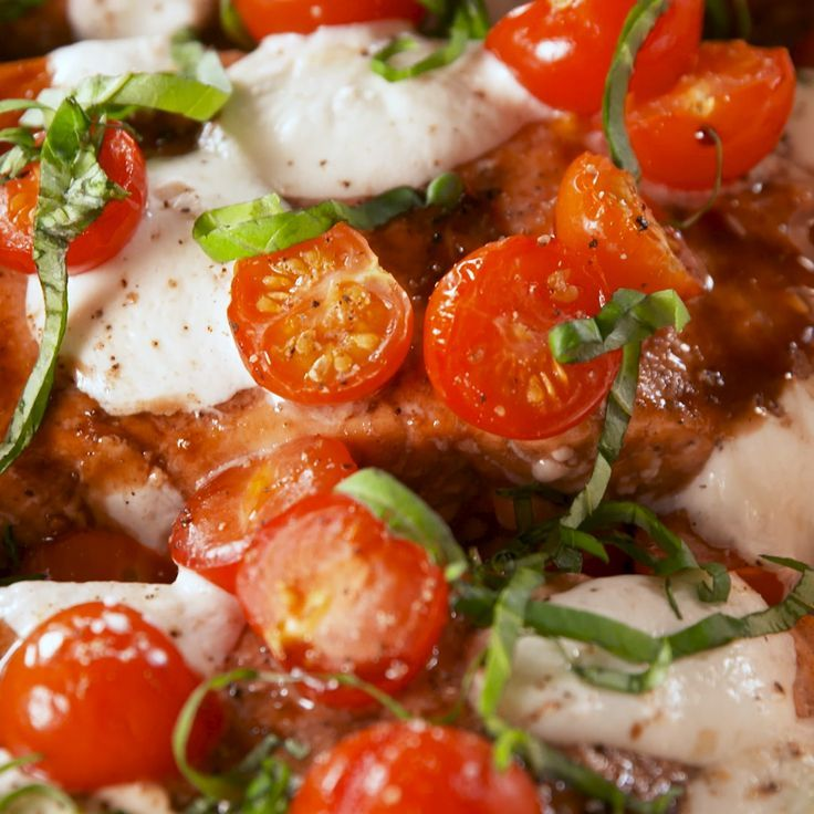 Caprese Lachs   - Fish and Seafood Recipes -