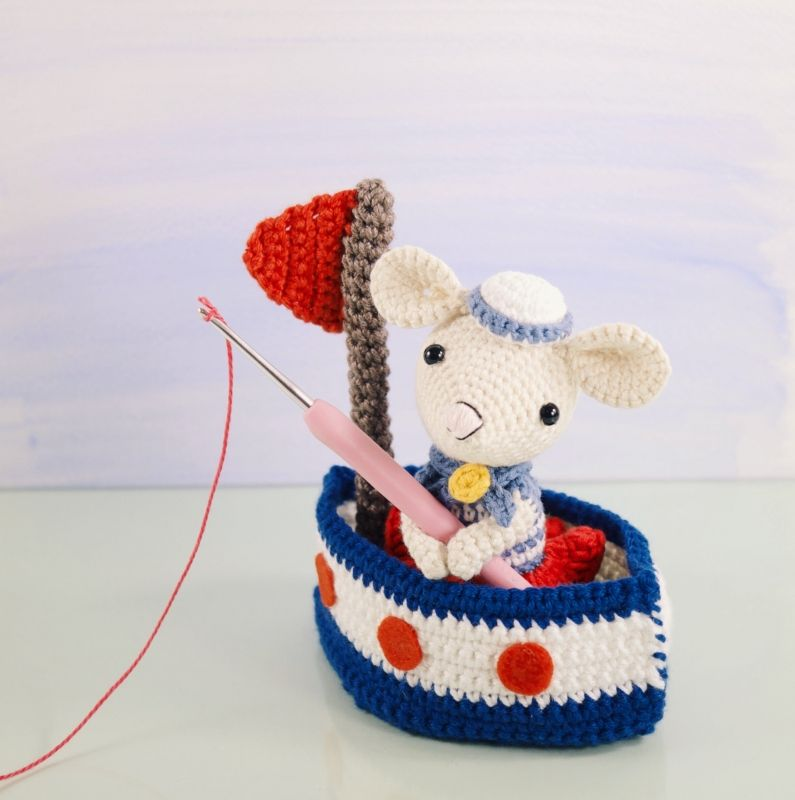 Saltee and her sail boat amigurumi pattern - Amigurumipatterns.net ...