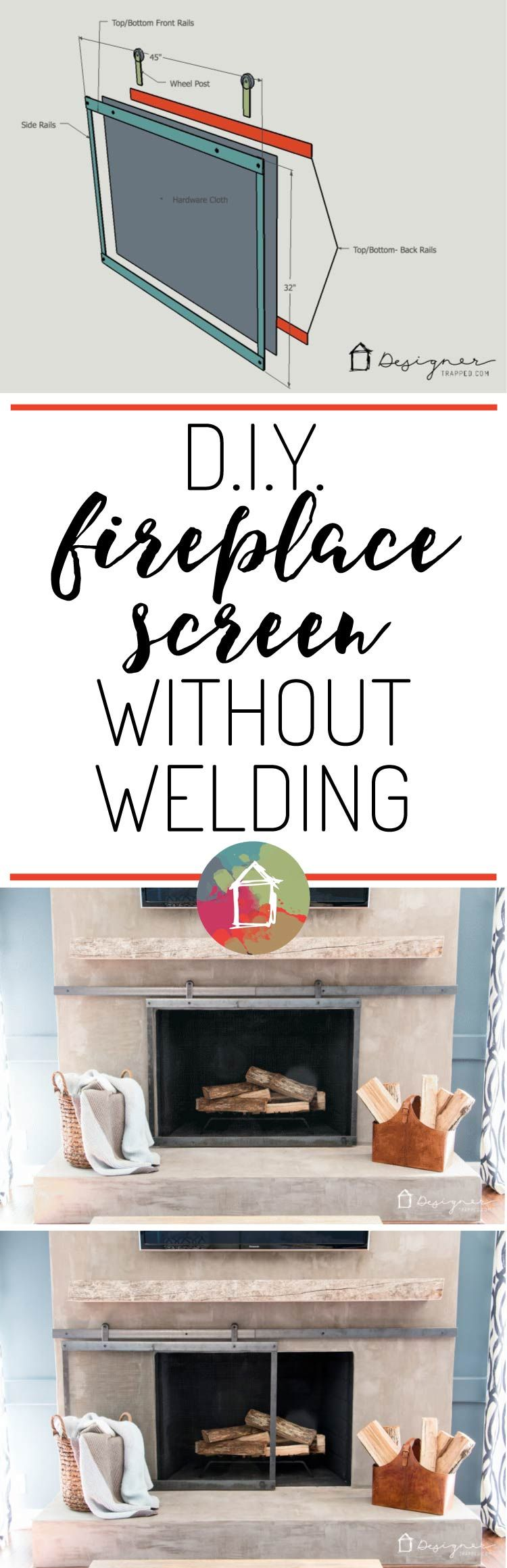 How To Make A Barn Door Style Fireplace Screen Gardening