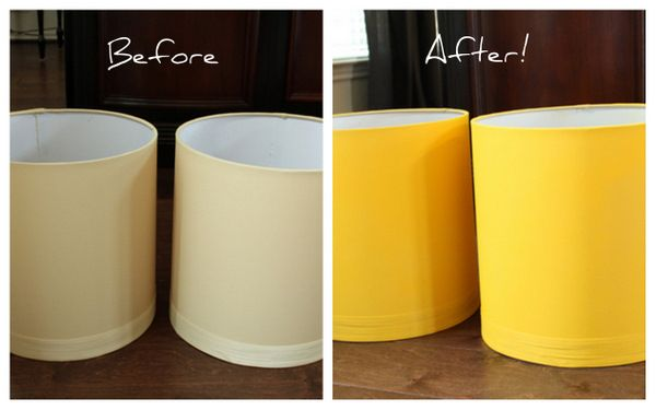 Painting A Lampshade Enchanting Meet My New Yellow Lamps A Spray Paint Project  Decorchick Design Inspiration