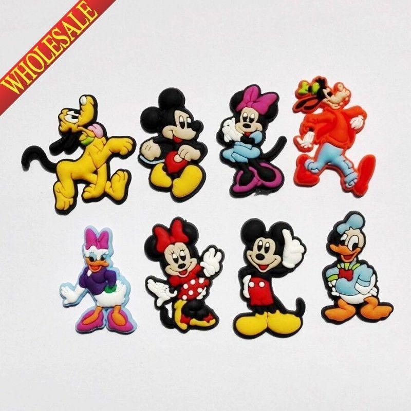 Clog Jibbitz Charm Shoe Plug Accessories Wrist Bands Bracelet Disney Pluto