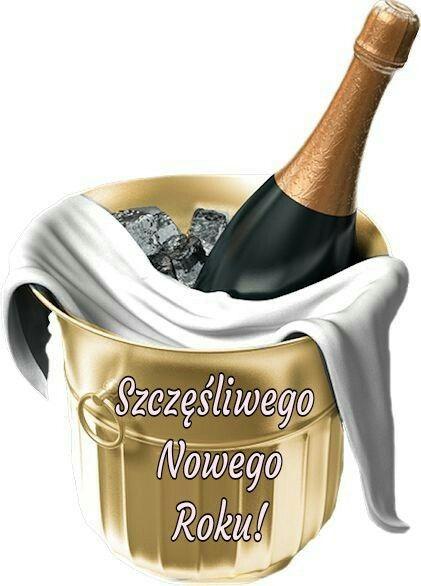 Kartka Swiateczna Beer Girl Happy New Year Christmas Magic