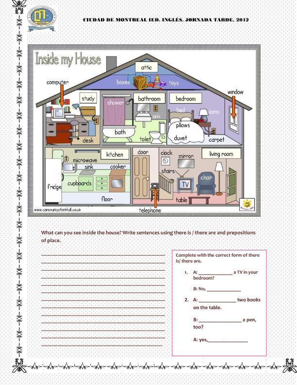 Inside My House Classroom literacy & language