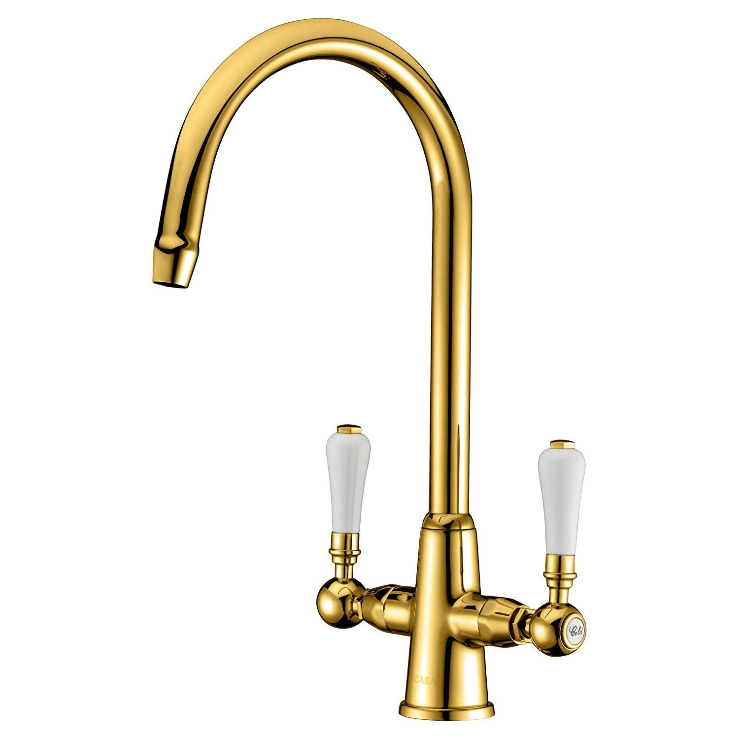 GICASA Traditional Classic Lead Free Kitchen Sink Taps, Monobloc ...