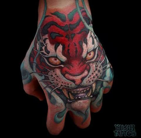 Japanese Tiger Tattoo Hand