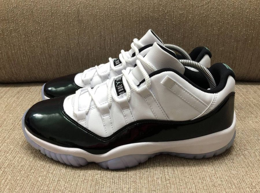 11b92b460a178 New Look At The Air Jordan 11 Low Emerald   Air Jordans   Pinterest ...