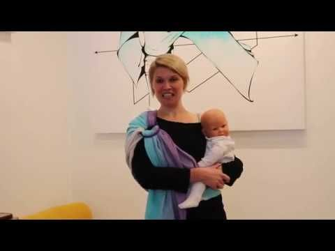 9d128932a74 HOW TO USE A RING SLING WITH A BIGGER BABY - YouTube