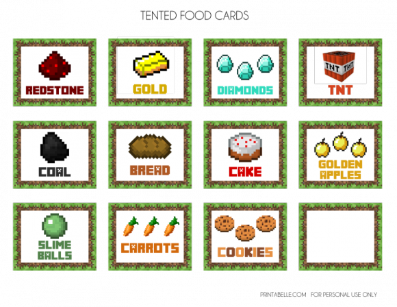 photo regarding Minecraft Free Printable Food Labels named Free of charge Minecraft Social gathering Printables for your Minecraft birthday