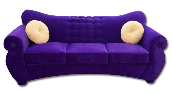 Eon Sleeper Sofa Queen Size In Purple Microsuede 1 299 Plus Tax And Delivery