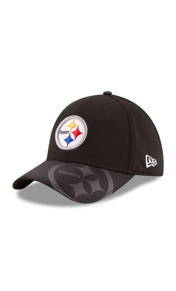 online retailer 0ca74 76905 NFL Men Pittsburgh Steelers New Era Black Sideline Official 39THIRTY Flex  Hat - NFL