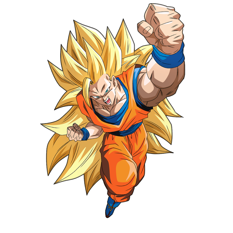 Goku Ssj3 Render 3 Bucchigiri Match By Maxiuchiha22 Dragon Ball