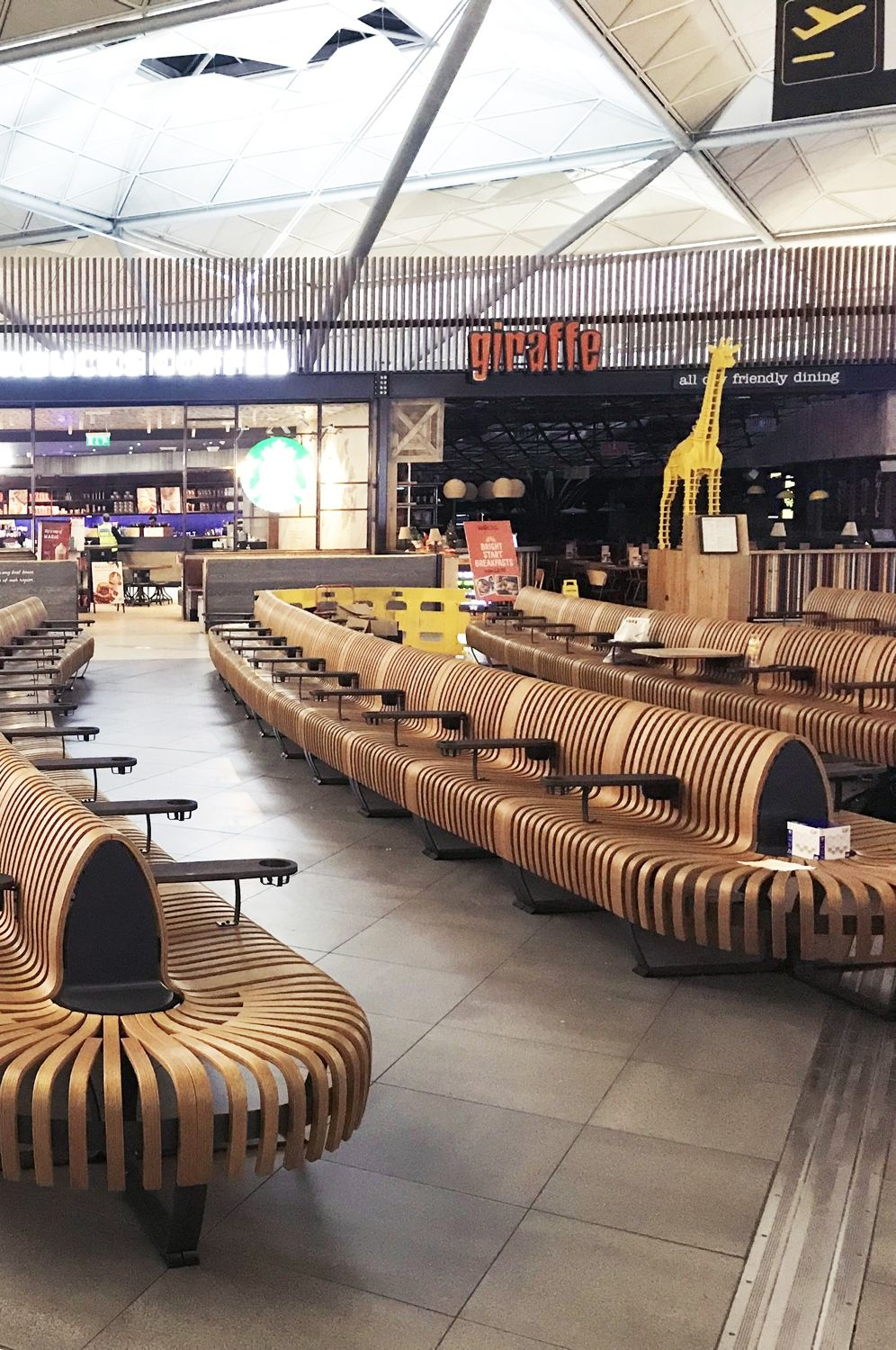 London Stansted Airport Comfortable Seating Area Green