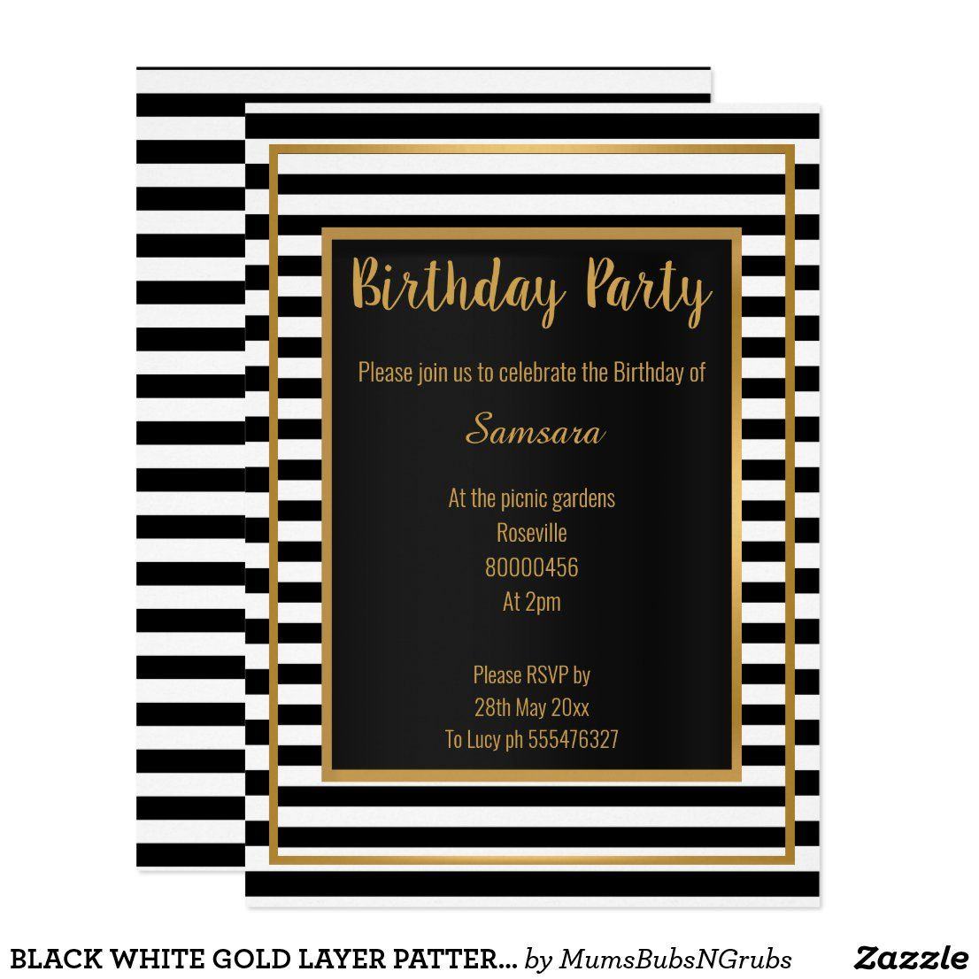 Pin on Birthday Party Invitations