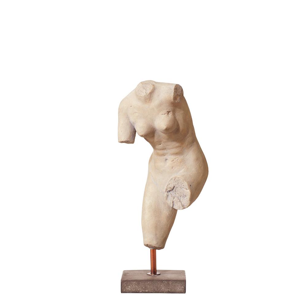 Hecuba Statue on Marble Base - Natural - OKA