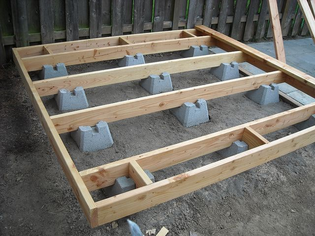 How To Build A Deck With Handi Blocks