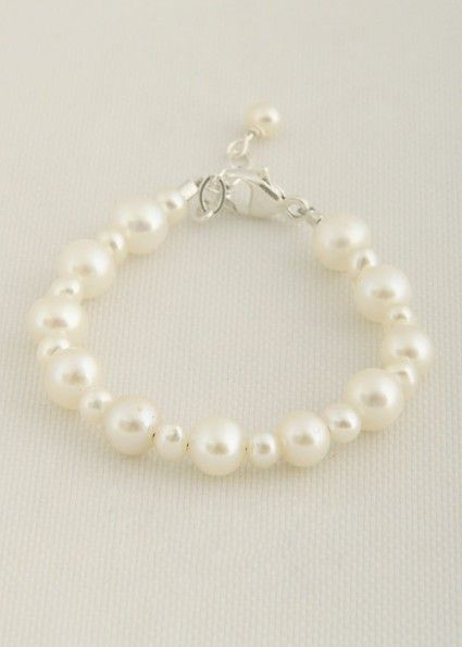 Pretty Pearl Baby Bracelet How Cute Would This Be For An Lds Blessing Make A Great Gift As Well Www Onesmallchild