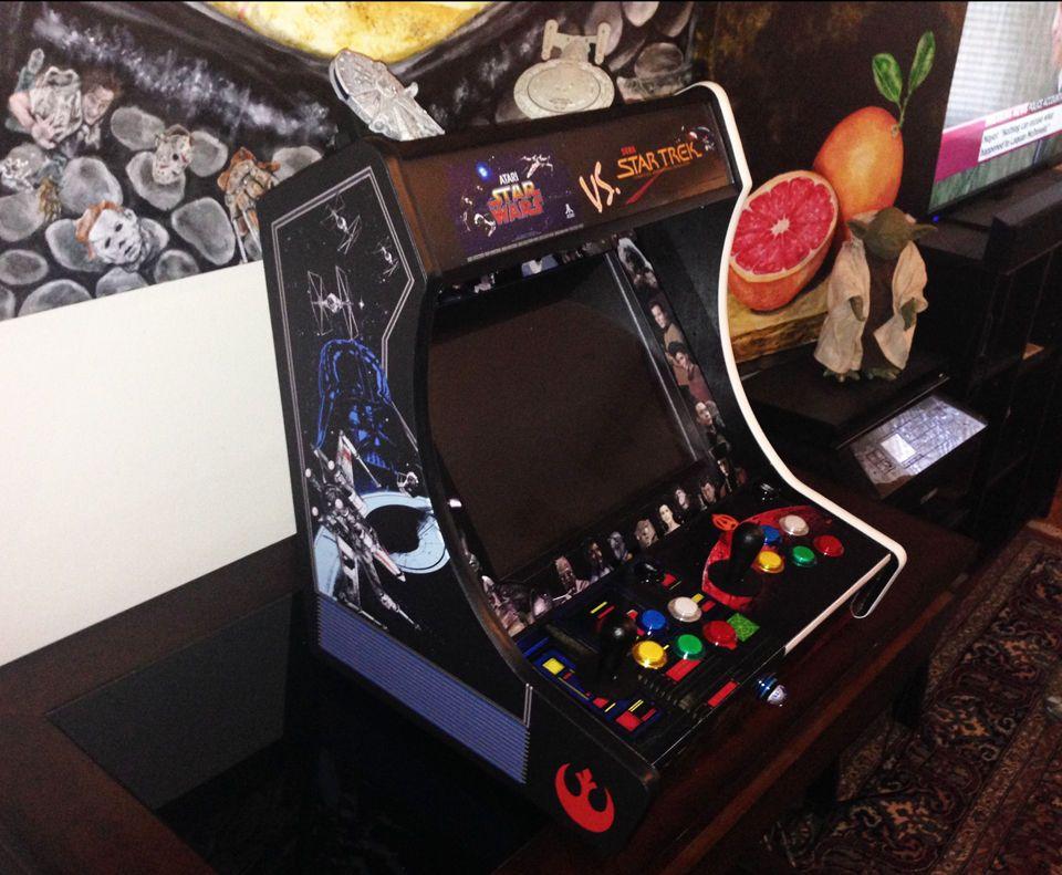 Star Wars Vs Star Trek Custom Bartop Tabletop Arcade Machine Mini