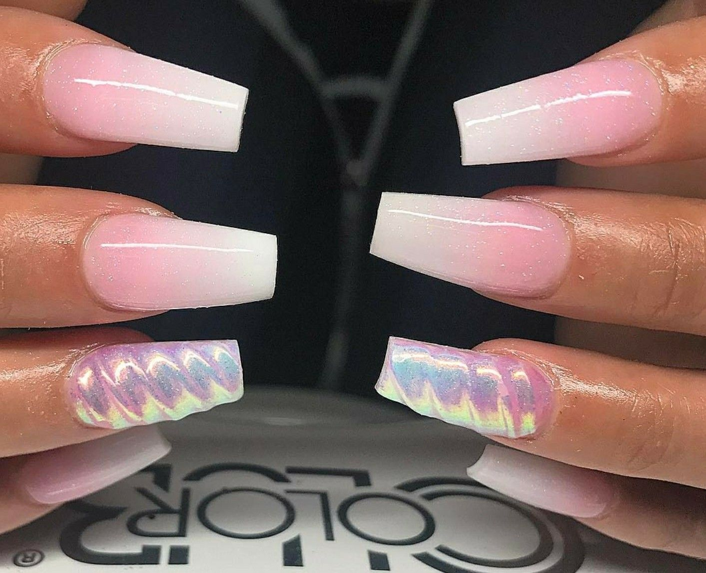 Tapered Square Nails Square Nails Babyboomers Ombre Nails