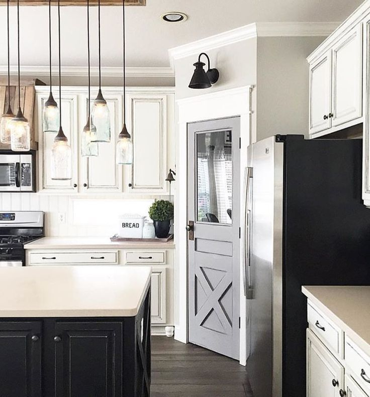 Kitchen Pantry Lighting: Like Pantry Door And Lights Over Island
