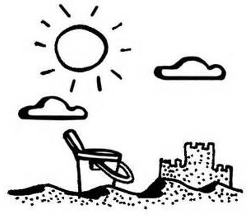 Summer Clip Art Black and White | Clip art, Free clip art, Art