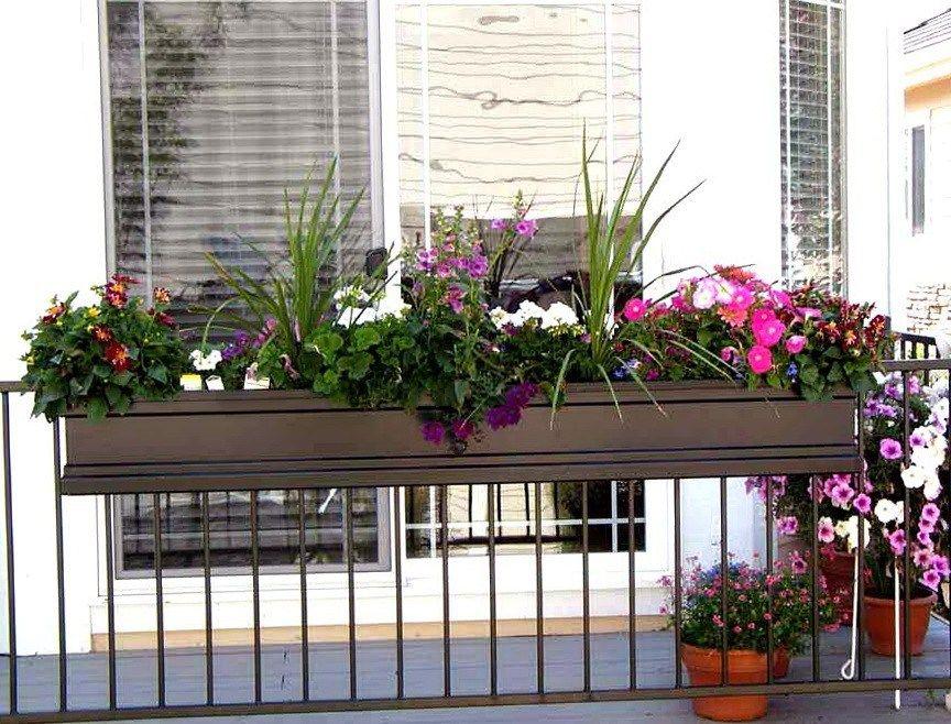 Balcony Railing Planter Garden Box Railing Planters Amazon Rail