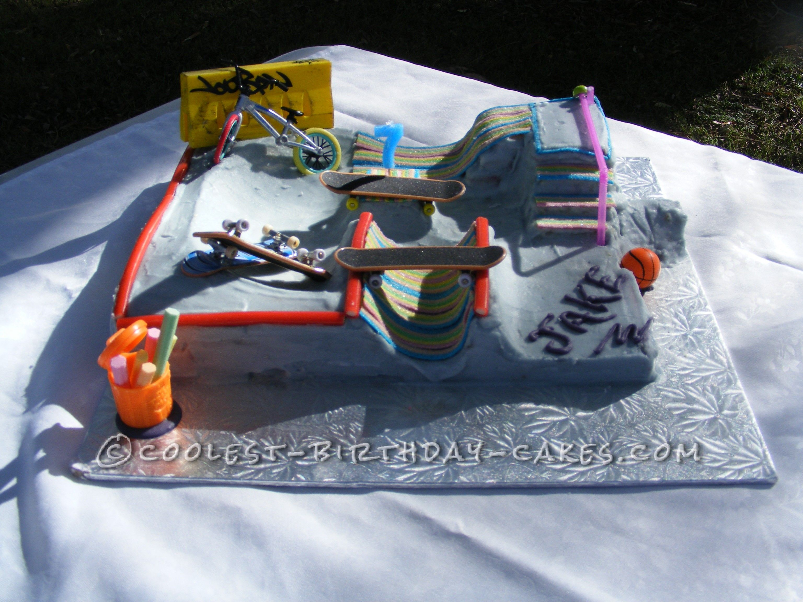 The Coolest Skate Park Cake In 2019 Coolest Birthday